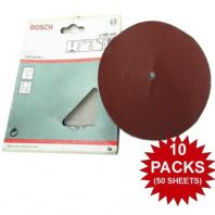 "10 PACKS Bosch Sanding Discs 180 Grit Fine 125mm 5"" For Drill Backing Pads   YD"